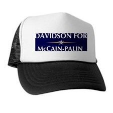 DAVIDSON for McCain-Palin Trucker Hat