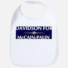 DAVIDSON for McCain-Palin Bib