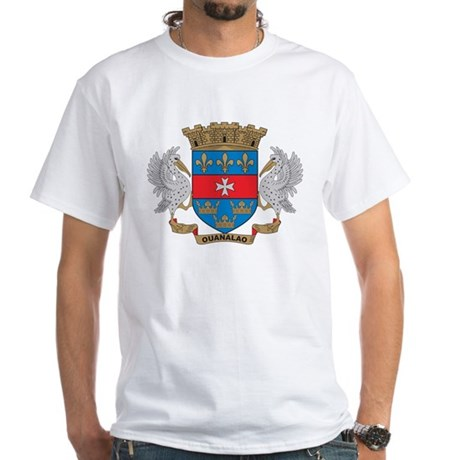 St. Barthelemy Coat of Arms White T-Shirt