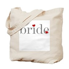 Gray Text Bride Tote Bag