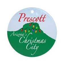 Prescott, Arizona's Christmas Ornament (Round)