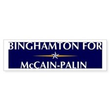 BINGHAMTON for McCain-Palin Bumper Bumper Sticker