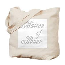 Classy Grays Matron of Honor Tote Bag