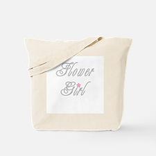 Classy Grays Flower Girl Tote Bag