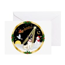 Night Flight/Rat Terrier Greeting Card