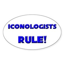 Iconologists Rule! Oval Decal