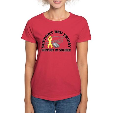 Support Red Friday (Soldier) Women's Dark T-Shirt
