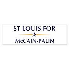 ST LOUIS for McCain-Palin Bumper Bumper Sticker