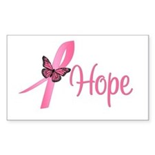 Breast Cancer Hope Rectangle Sticker 10 pk)