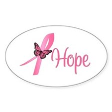 Breast Cancer Hope Oval Decal