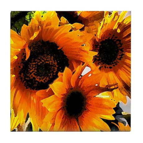 Sunflower Dream Tile Coaster