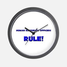 Human Resources Officers Rule! Wall Clock