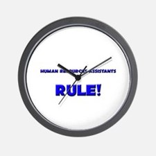 Human Resources Assistants Rule! Wall Clock