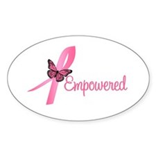 Breast Cancer (Empowered) Oval Decal