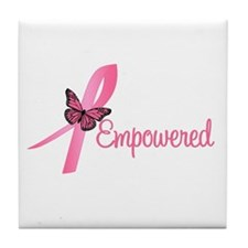Breast Cancer (Empowered) Tile Coaster