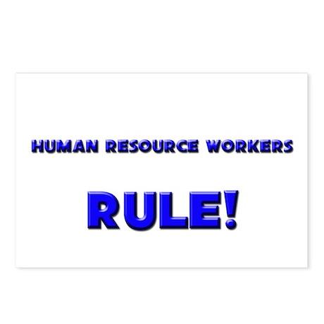 Human Resource Workers Rule! Postcards (Package of