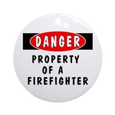 Property of a Firefighter Ornament (Round)