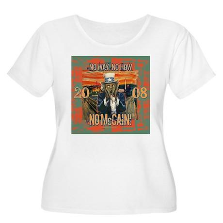 Anti McCain Scream Women's Plus Size Scoop Neck T-