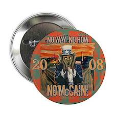 """Anti McCain Scream 2.25"""" Button (10 pack)"""