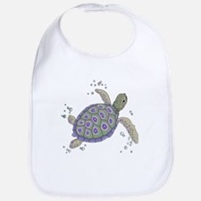 Swimming Sea Turtle Baby Bib