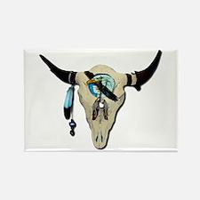 Steer Skull Rectangle Magnet