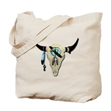 Steer Skull Tote Bag