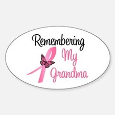 Remembering My Grandma (BC) Oval Decal