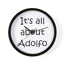 Funny Adolfo Wall Clock