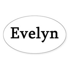 Evelyn - Personalized Oval Decal