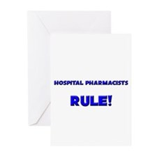 Hospital Pharmacists Rule! Greeting Cards (Pk of 1