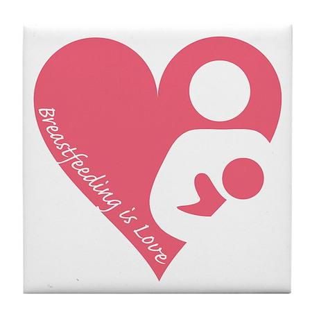 Breastfeeding is Love Tile Coaster