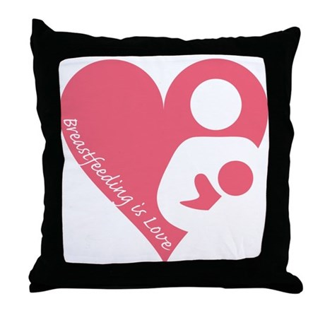 Breastfeeding is Love Throw Pillow