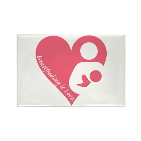 Breastfeeding is Love Rectangle Magnet