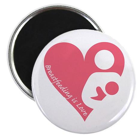 """Breastfeeding is Love 2.25"""" Magnet (10 pack)"""