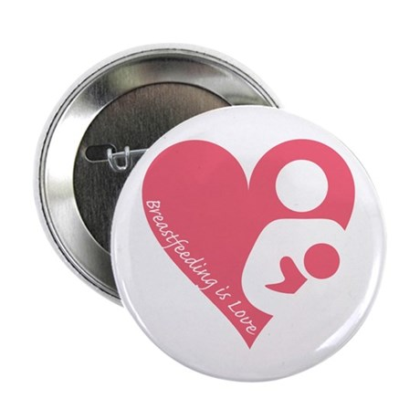 """Breastfeeding is Love 2.25"""" Button (100 pack)"""