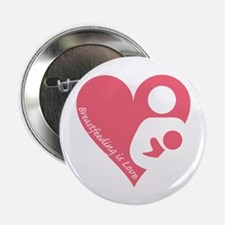 "Breastfeeding is Love 2.25"" Button (100 pack)"