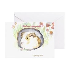 GUINEA PIG Sympathy Greeting Card