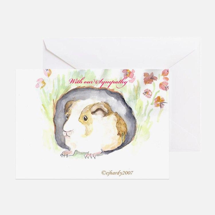 GUINEA PIG Sympathy Greeting Card
