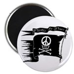 Pirates for Peace Round Magnet
