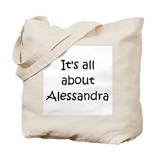 Funny Alessandra Tote Bag