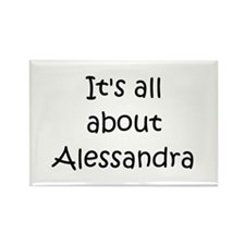 Funny Alessandra Rectangle Magnet