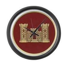 Army Engineer Large Wall Clock