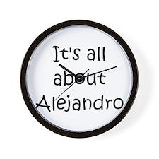 Funny Alejandro Wall Clock