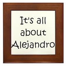 Funny Alejandro Framed Tile