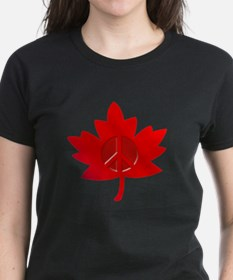 Maple Leaf Peace Sign Tee