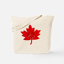 Maple Leaf Peace Sign Tote Bag
