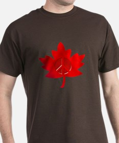 Maple Leaf Peace Sign T-Shirt