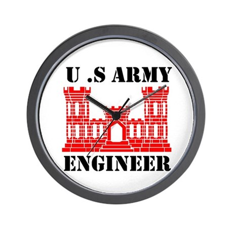 Army Engineer Castle Wall Clock
