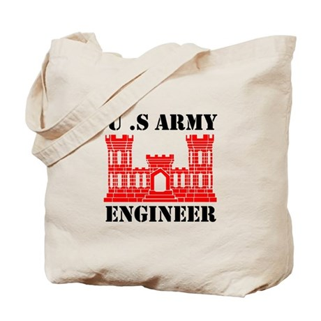 Army Engineer Castle Tote Bag