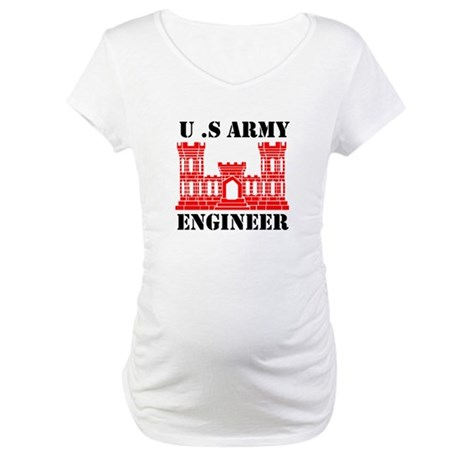Army Engineer Castle Maternity T-Shirt